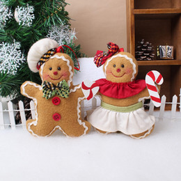 Discount black men doll - Gingerbread Man Decorated Little Pendant Christmas Home Decorative Gingerbread Doll Tools