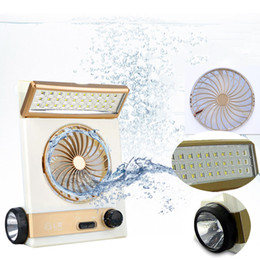China Portable Solar Fan LED Table Lamp 3 in 1 Multi-function Eye-Care Flashlight Light for Home Camping Solar Cooling Fans cheap lamp for camping suppliers
