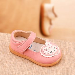 blue cow cartoon Australia - Phynier Baby girl toddler shoes 1-3-5 years old girl single shoes autumn cartoon leather