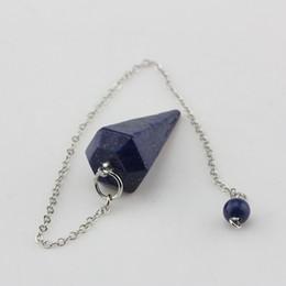 natural stone amulets 2019 - Natural Rock Pink white Quartz Crystal Stone Hexagon Pyramid Reiki Pendulum Pendant Charm Chakra Amulet European fashion