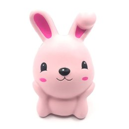 $enCountryForm.capitalKeyWord UK - Cute Jumbo 15cm Squishy Pink Rabbit Squeeze Slow Rising Fun Toy Gift Phone Strap Decor Christmas Gift P15