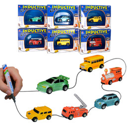 Pen track online shopping - Newest Magic Mini Pen Inductive Toy Car Draw Lines Induction rail Track Car Novelty Cars for Children