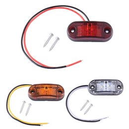 car led side lights red 2018 - 2pcs Piranha Blinker Light LED Side Marker Brake Signal Lamp For Car Truck Trailers 12 24V Waterproof ABS White Yellow R