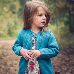 Meninas do bebê suéter cardigan moda meninas de malha oco camisola de manga comprida outwear crianças single-breasted princesa outwear A01318