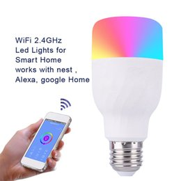 Color Energy Saving Bulb Australia - Smart Bulb Color Changing WiFi Wireless Remote Voice Control Switch No Hub Energy Saving Distance Operate