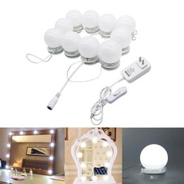 12v touch switch online shopping - LED Vanity Mirror Lights Kit Style Makeup Mirror Lights Led Bulbs Fixture Strip for Makeup Vanity Table Set Dimmer Power Supply