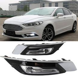 Running light foR foRd online shopping - 1set for Ford Fusion Mondeo LED DRL Fog lamp Daytime Running Light Daylight Waterproof Styling light