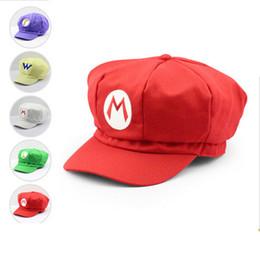 Toy Hats NZ - Super Mario Plush Toys Caps Mario Luigi Wario Waluigi Cosplay Hat children adult Gift