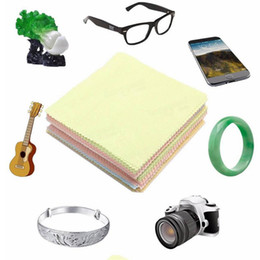 aafe42bc912f 100 Pieces Lot Glasses Cloth Microfiber Colorful Eyeglasses Lens Cloth  Eyewear Accessories Fabric Mobile Phone Camera Wipes