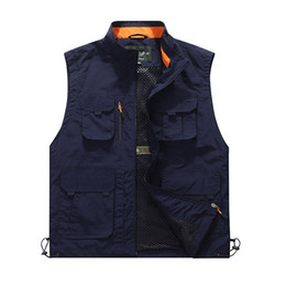 Discount multi pocket travel vest - High Quality 2018 Travels Vest Tops Multi-pockets Vest Photography Waistcoat Brand Men Casual Multi Functional Work