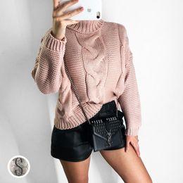 3f4add0812b 2018 Autumn Winter Diver Turtleneck Sweater Women Crochet Pullover Sweater  Korea Cute Pink Yellow Beige Jumper Loose Tops Pull S1020