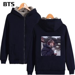 $enCountryForm.capitalKeyWord Australia - BTS 2018 Hip Hop V Zipper Hot Sale Hoodies Sweatshirts Men Women Harajuku Cool Winter Hoodies Warm Fleece Loose Sweatshirt A8710