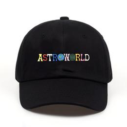 ASTROWORLD Hombres Sombreros de la Venta Caliente Últimas Travis Scotts Cap Letras de Bordado de Algodón Ajustable Gorras de Béisbol Envío Gratis Streetwears