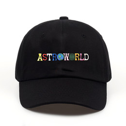 Chinese  ASTROWORLD Mens Hats Hot Sale Latest Travis Scotts Cap Embroidery Letters Adjustable Cotton Baseball Caps Free Shipping Streetwears manufacturers