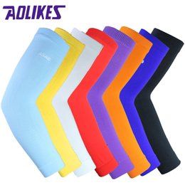 Aolikes knee support online shopping - AOLIKES Arm warmers Elastic Basketball Arm Sleeve Volleyball armband breathable cycling elbow pads support compression