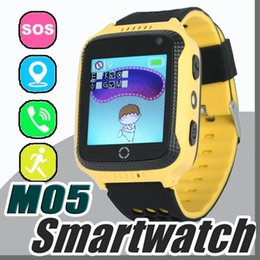 Children Baby Kids Smart Watch Phone NZ - 2017 M05 Smart Watch for Children Kids GPS Watch for Apple for Android Phone Smart Baby Watch Electronics Two Colors Available Y-BS