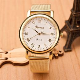 Discount geneva mesh watch - Classic Watch Women Watches Geneva Famous Brands Ladies Dress Quartz Mesh Stainless Steel Strap Wristwatch Clock #D