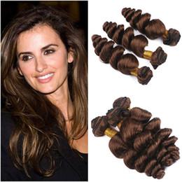 """$enCountryForm.capitalKeyWord NZ - Loose Wave #4 Chocolate Brown Virgin Human Hair 3 Bundle Deals Wholesale Peruvian Dark Brown Human Hair Weave Bundles 10-30"""" Double Wefts"""