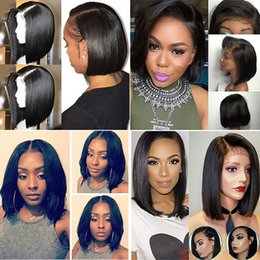 Remy bob wigs online shopping - Short Bob Wigs Brazilian Virgin Hair Lace Front Human Hair Wigs For Black Women Swiss Lace Frontal Wig XBL Hair