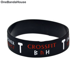 China Wholesale 50PCS Lot CrossFit with Motivational Slogan Silicone Bracelet Wristband Great To Used In Any Benefits Gift suppliers