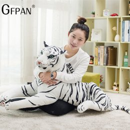 $enCountryForm.capitalKeyWord Australia - 60-30cm Simulation White Tiger Plush Toy Cute Stuffed Animal Pillow Cushion Baby Doll Toys Creative Gift for Children Kids
