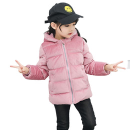 55a10b516 Kids Winter Jacket Toddler Boys Warm Coat Baby Girls Velour Fabric  Outerwear Clothes Children Cotton Padded Jackets For Girls