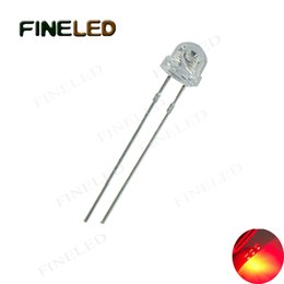 Led Lighted Hats Wholesale Canada - LED 4.8mm Straw Hat Mushroom Red Light Emitting Diodes Water Clear Ultra Bright Epistar LED 1000 Pcs bag Long short lead