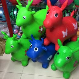 Large horse toys online shopping - Quality Goods Large Color Inflatable Jumping Horse Thickening Explosion Proof Children Fun Puzzle Animal Jumper Toys wy W
