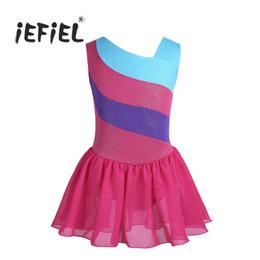 $enCountryForm.capitalKeyWord Australia - Kids Professional Ballet Tutu Dress Kids Costumes Dancewear Sleeveless Glittery Splice Ballet Dance Gymnastics Leotard Dress