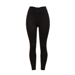 $enCountryForm.capitalKeyWord UK - Hot Sale Women Quick Drying High Elasticity Fitness Yoga Polyester Elastic Waist Full Length Sports Running Yoga Athletic Pants