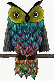 Chinese  Owl Full Drill DIY Mosaic Needlework Diamond Painting Embroidery Cross Stitch Craft Kit Wall Home Hanging Decor manufacturers