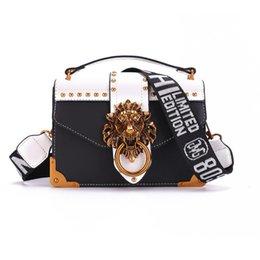 90727d481e32 Fashion Metal Lion Head Mini Small Square Pack Shoulder Bag Crossbody  Package Clutch Women Designer Wallet Handbags Bolsos Mujer