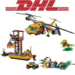 $enCountryForm.capitalKeyWord Australia - New 1298Pcs City Figures Jungle Air Drop Helicopter Model Building Kit Blocks Bricks Toy For Children Gift Compatible 60162