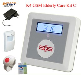 gsm motion alarm Australia - GSM SMS Alarm System Home Alarm Alarm Fire Intrusion Safety SOS K4 with PIR Motion sensor and SOS button