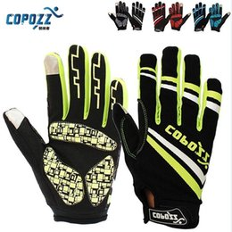 Wholesale Copozz Brand New Gel Full Finger touch screen bike cycling gloves anti skip shockproof breathable bicycle MTB sports gloves
