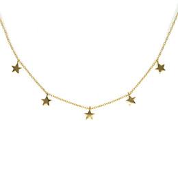 $enCountryForm.capitalKeyWord UK - authentic 925 Sterling-silver Necklaces Star Pendants & Necklaces Jewelry Collar Necklace Pendants For Women gold color de Plata