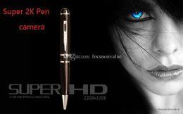 Discount pen camera detection - 16GB 32GB 2K Mini Pen Camera HD 1296P Motion Detection pen DVR H.264 HDMI Output Mini Camera Pen Video recorder
