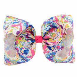 $enCountryForm.capitalKeyWord UK - 1Pcs 8 Inch printed Large Bow Clip Butterfly Polka Dots Rainbow Hairpin Big Hair Clip Handmade Hair Accessories For Girls 826