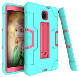 high impact case UK - Heavy Duty Shockproof Armor Case for Tab A 8.0 SM-T387 SM T387 t387 Hard Hybrid High Impact Defender Full Body Protective Case DHL