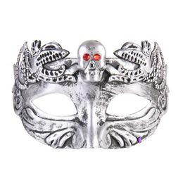 $enCountryForm.capitalKeyWord Australia - New arrival Retro Greco Roman Mens Mask for Mardi Gras Gladiator masquerade Halloween Vintage half face Mask Carnival 3D carved jazz Masks