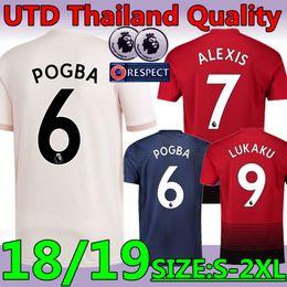 dd51c4db773 Thailand top quality New 18 19 season  6 POGBA ALEXIS United away pink soccer  jersey 2019 UTD  9 LUKAKU MARTIAL RASHFORD football shirt