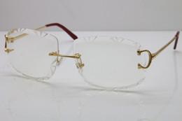 2020 di trasporto libero T8200762 uomini donne senza montatura occhiali Silver Frame metallo oro Occhiali lunettes occhiali classici nuova moda in Offerta