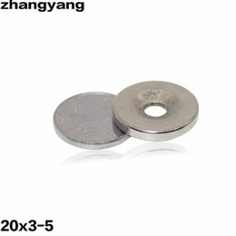 Rare Earth Neodymium Magnet Countersunk Hole Australia - ZHANGYANG 10Pieces Lot 20 x 3 mm With Hole 5mm Ring Rare Earth Strong Countersunk Neodymium Magnets