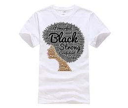 Chinese  100% Cotton O-neck custom printed T-shirt Afro Word Art Shirt for Black History Month manufacturers