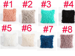 Cool Car Colors online shopping - 8 colors home decor soft waist car seat fur plush cushion cover throw fashion pillow cases hot product