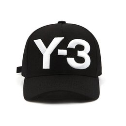 Baseballs Men Fashion UK - Fashion Y-3 Pure Cotton Peaked hip hop Baseball Caps Embroidered Letter Adjustable men women Casual Snapbacks Sport visor gorras hats
