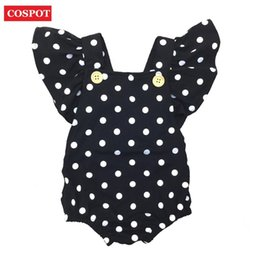 47f0c515aca9 COSPOT Baby Girls Dot Rompers Girl Summer Cotton Ruffle Sleeve Romper  Toddler Fashion Jumpsuit Newborn Girl s Cotton Jumper D30