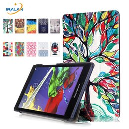$enCountryForm.capitalKeyWord Australia - Painted Stand Flip case For Lenovo Tab2 A8-50 A8-50F A8-50LC Tablet Cover For lenovo tab 3-850f 850m 850l+OTG+stylus+screen film