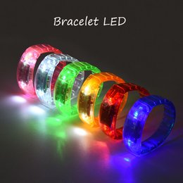 Wholesale world cup Music Activated Sound Control Led Flashing Bracelet Light Up Bangle Wristband Club Party Bar Cheer Luminous Hand Ring stick OTH911