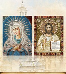 Dpf online shopping - DPF round full diamond painting cross stitch gift Religious d needlework Special Shaped Diamond Embroidery home decor drawing